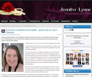 Jennifer Lynne Blog - Laura Sheehan Guest