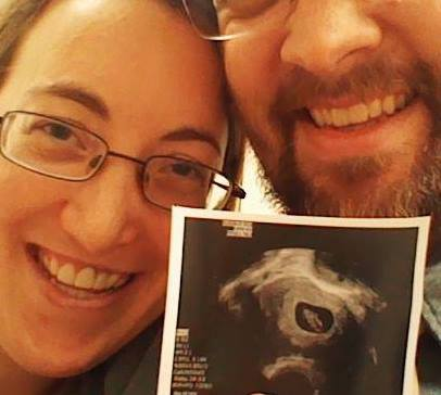 January 2014, our first ultrasound. Baby Girl had been brewing for about 6 weeks here!